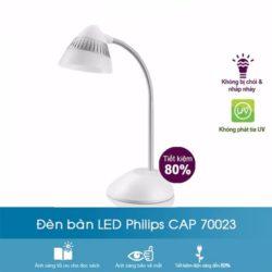Đèn bàn làm việc 70023 Cap Philips giúp bảo vệ mắt
