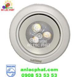 Đèn Spotlight 59721 Silver 3W Philips màu bạc nổi bật