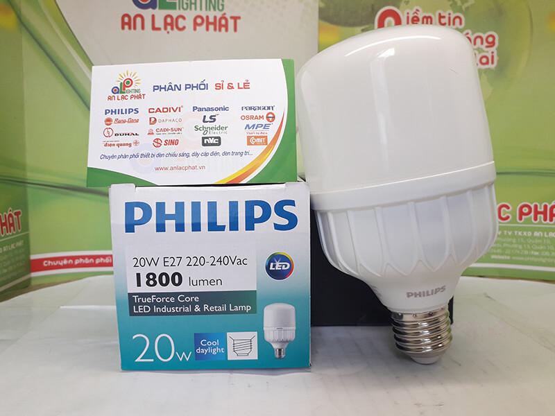 Bóng Led bulb Hilumen 20w Philips vận hành 24/7 kể cả điện áp thấp