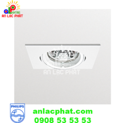 Chóa đèn downlight Philips QBS028 màu trắng trang nhã