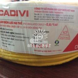 Dây Điện Đơn Cadivi CV 5.0 mm2 CU/PVC
