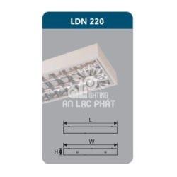 Máng đèn Duhal phản quang lắp nổi LDN220 công suất 2 x 9W