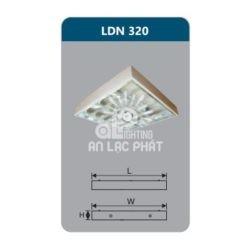 Máng đèn Duhal phản quang lắp nổi LDN320 công suất 3 x 9W