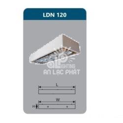 Máng đèn phản quang lắp nổi Duhal LDN120 công suất 1 x 9W