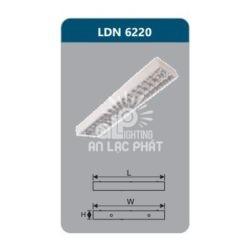 Máng đèn phản quang lắp nổi Duhal LDN6220 công suất 2x9W