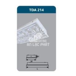 Máng đèn phản quang TDA214 âm trần Duhal công suất 2 x 14w