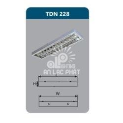 Máng đèn phản quang TDN228 lắp nổi Duhal công suất 2 x 28w