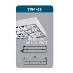 Máng đèn phản quang TDN428 lắp nổi Duhal công suất 4 x 28w