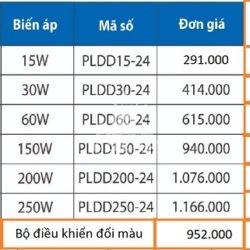 Bảng giá phụ kiện Led dây Paragon chính hãng
