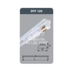 Bộ đèn huỳnh quang siêu mỏng Duhal DTF120 9w loại bóng T8