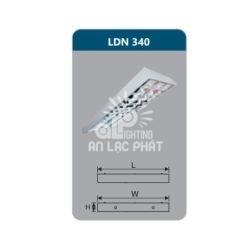 Máng đèn phản quang Duhal LDN340 lắp nổi công suất 3x18W