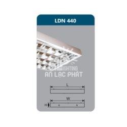 Máng đèn phản quang lắp nổi LDN440 Duhal công suất 4x18W