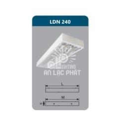 Máng đèn phản quang LDN240 lắp nổi Duhal công suất 2x18W