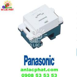 Ổ cắm điện thoại WNTG15649W Panasonic 4 cực thiết kế an toàn