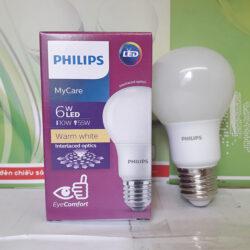 Đèn Led Bulb MyCare Philips 6W E27 tiết kiệm và an toàn