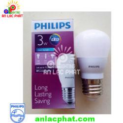 Đèn Led bulb MyCare Philips 3/3.5-25W E27 P45 (APR) tiết kiệm điện