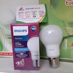 Đèn Led tròn MyCare Philips 8W E27 êm dịu cho mắt