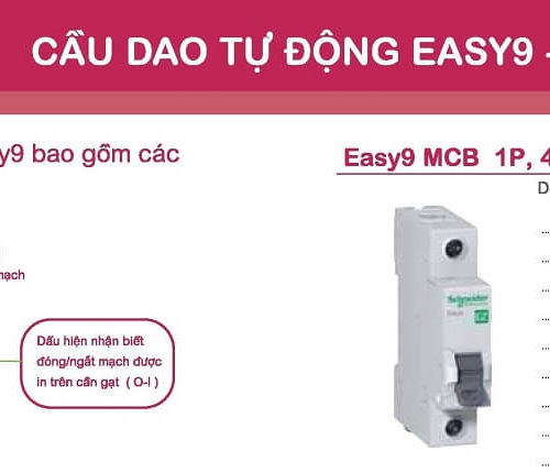 Aptomat Schneider MCB schneider Easy9 1 pha