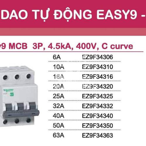 Aptomat Schneider MCB schneider Easy9 3 pha