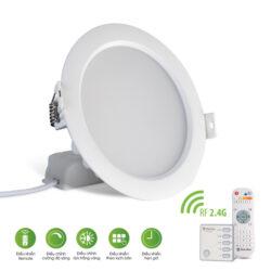 Đèn led âm trần Rạng Đông 7W D AT16L 90/7W.RF ĐIỀU KHIỂN REMOTE